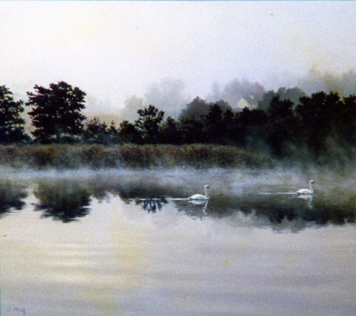 River Mist 1985 Oil on Panel 24 x 32