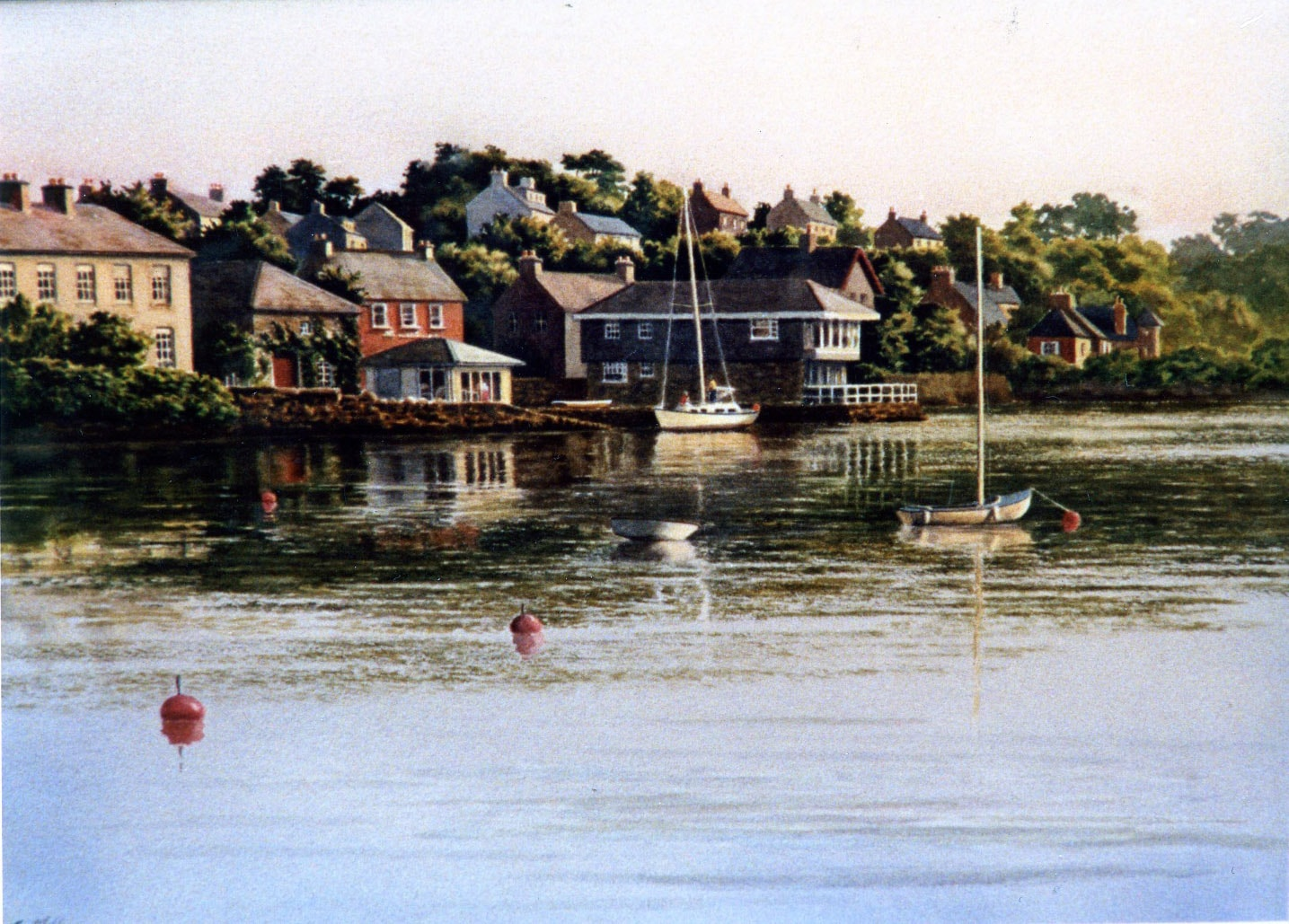 Marina in Kinsale 1989 Oil on Panel 18 x 24